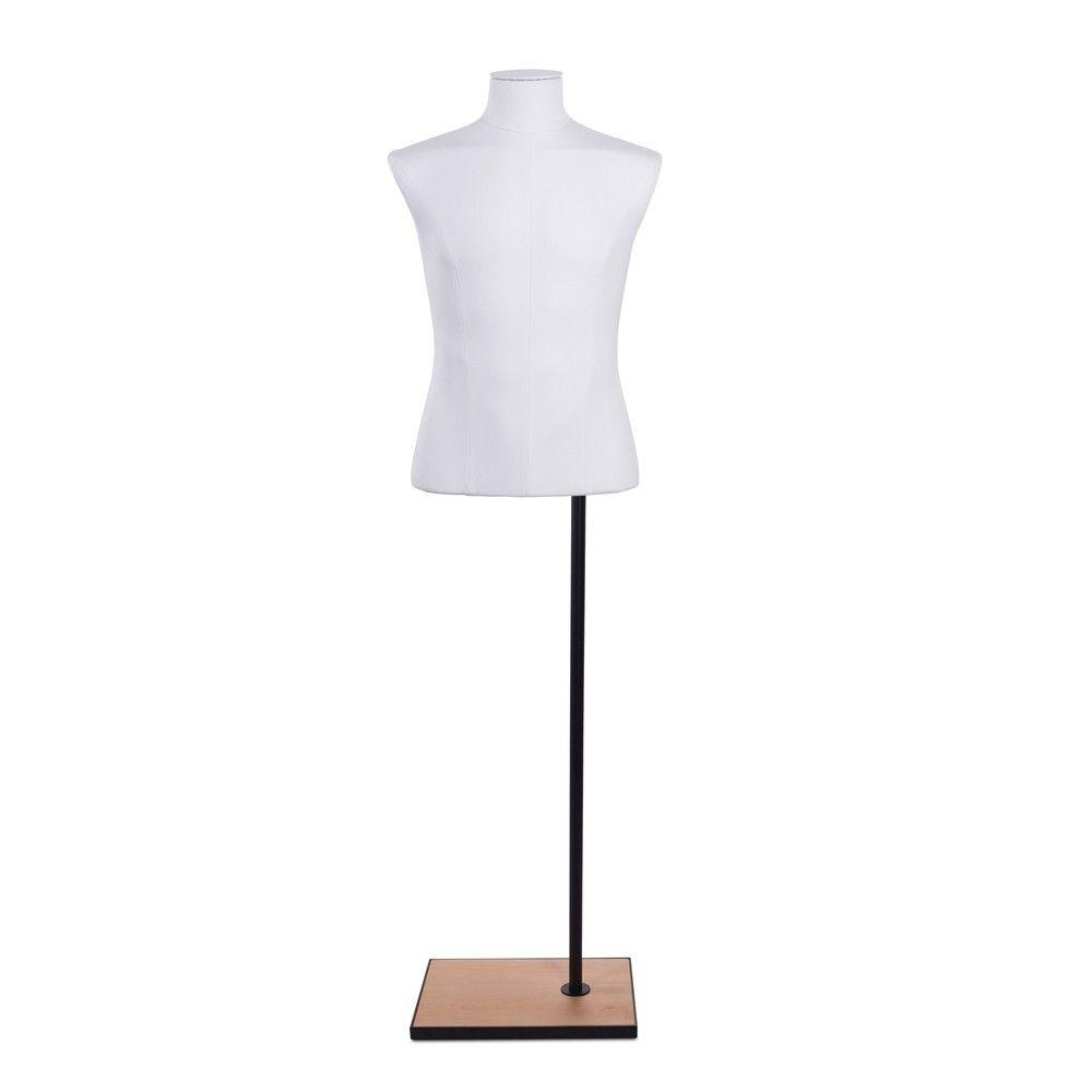 Buste homme court couture tissu socle noir - Modèle 172