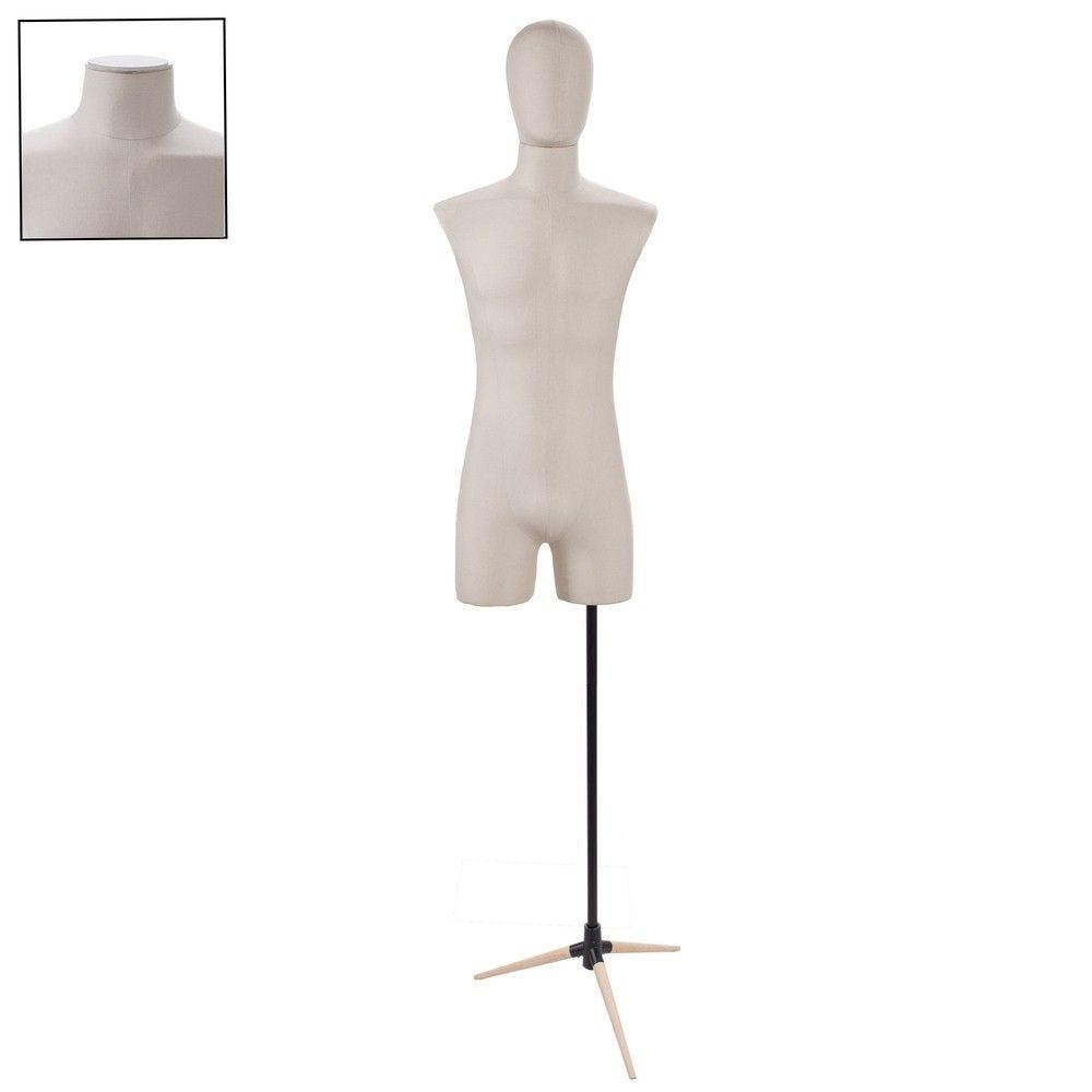 Buste homme couture tissu ecru tripode - Modèle 179