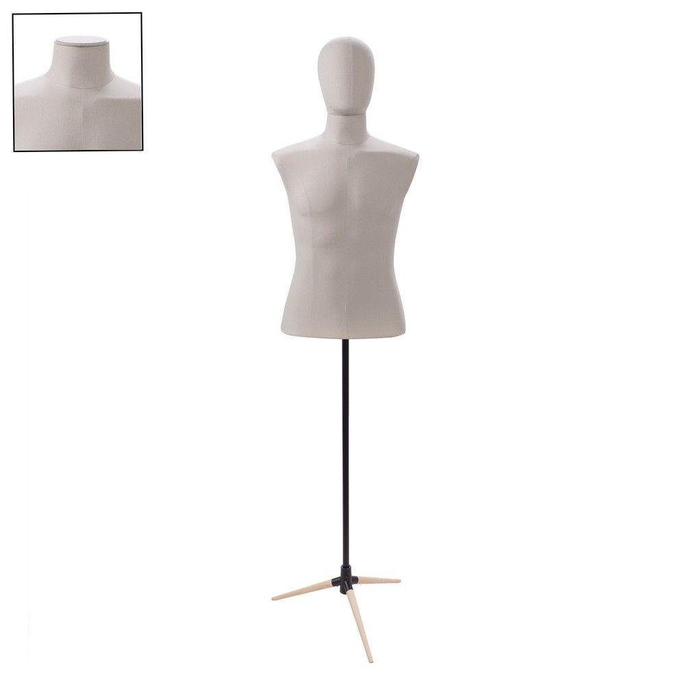 Buste homme couture tissu ecru tripode - Modèle 180
