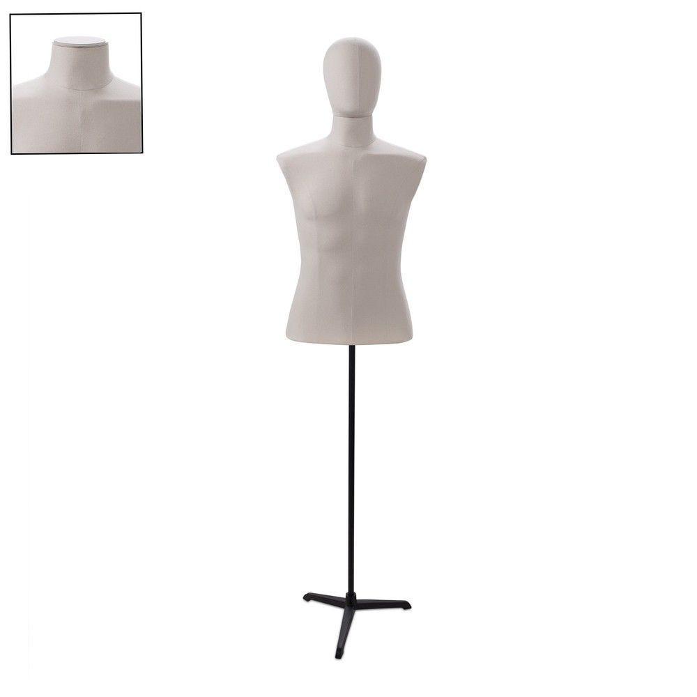 Buste homme couture tissu ecru tripode - Modèle 181
