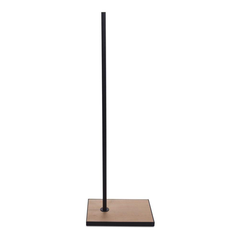 Socle rectangulaire 27x37cm fixation hors centretige 110cmbois noir