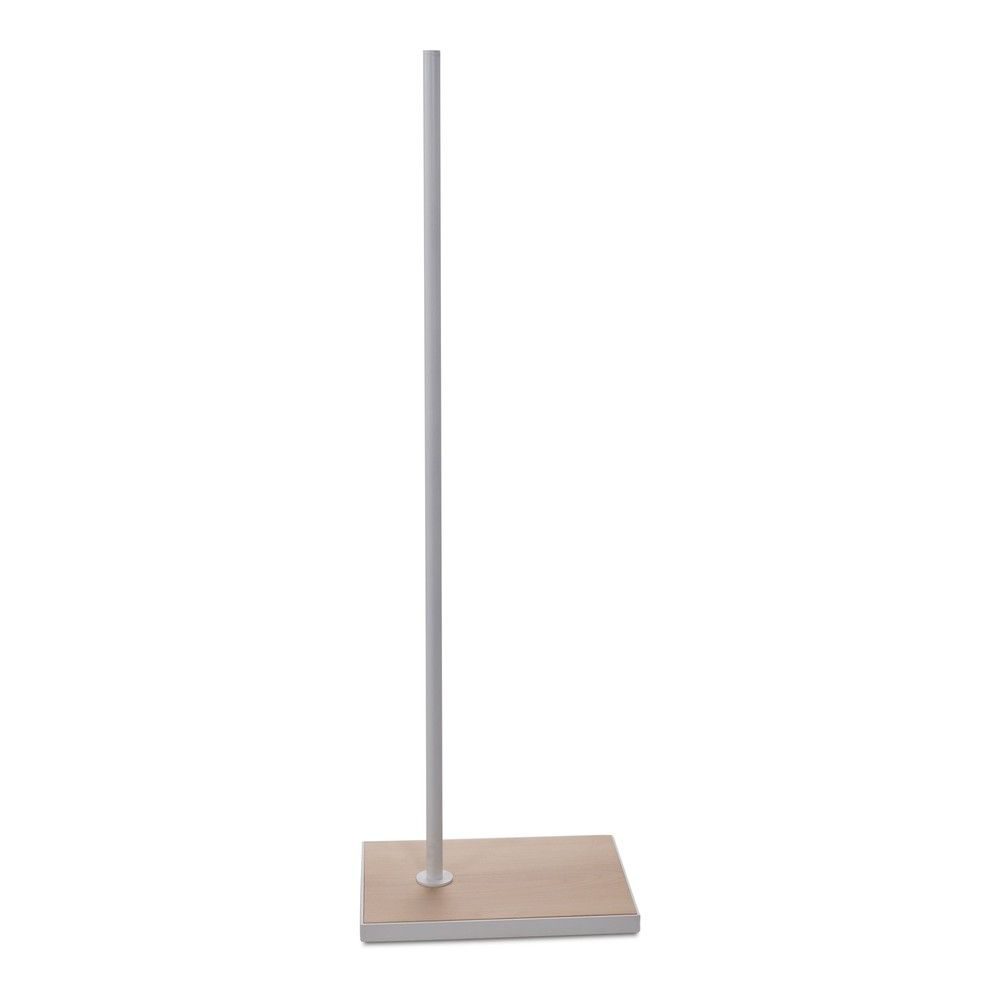 Socle 27x37 cm fixation hors centre tige 110 cm bois blanc