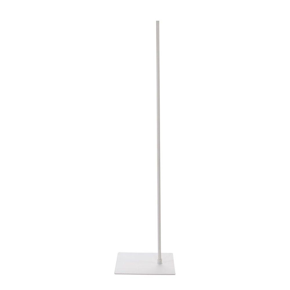 Socle 30x40 cm fixation hors centre tige 110 cm epoxy blanc