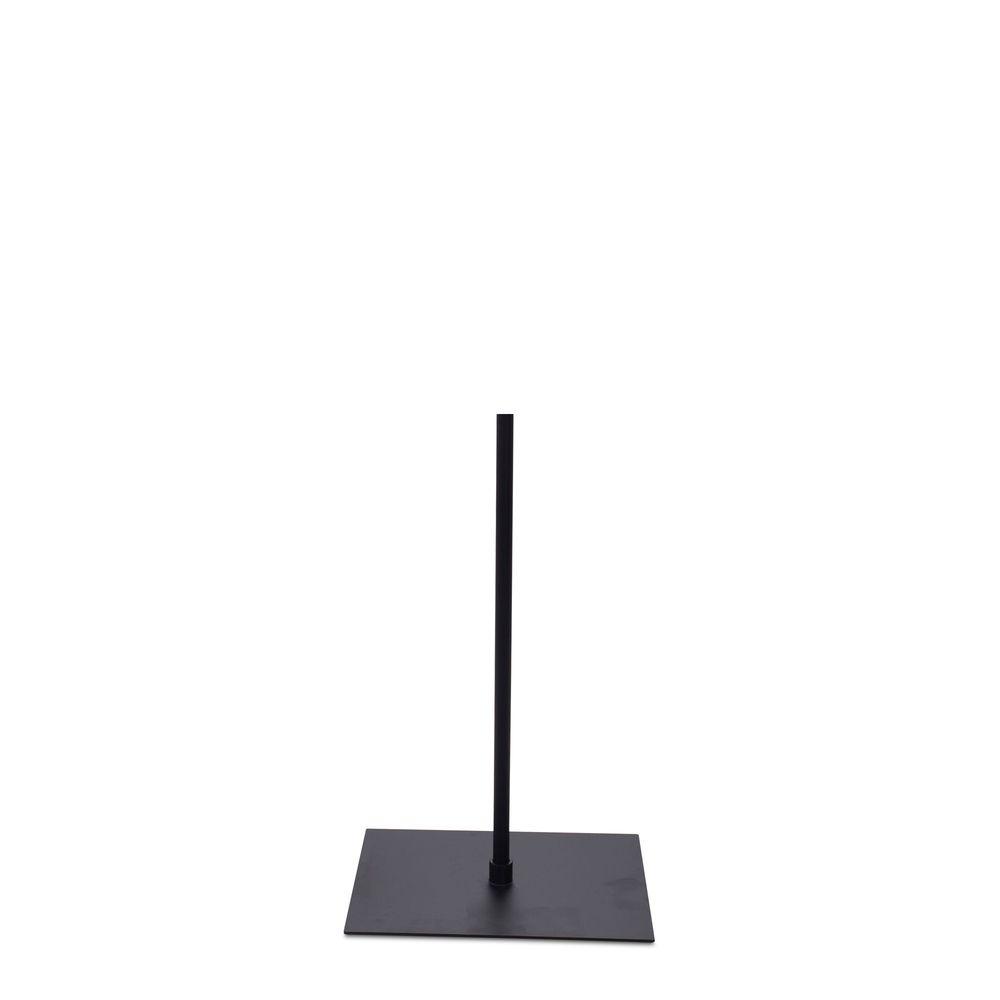 Socle 30x40 cm fixation au centre tige 55 cm epoxy noir