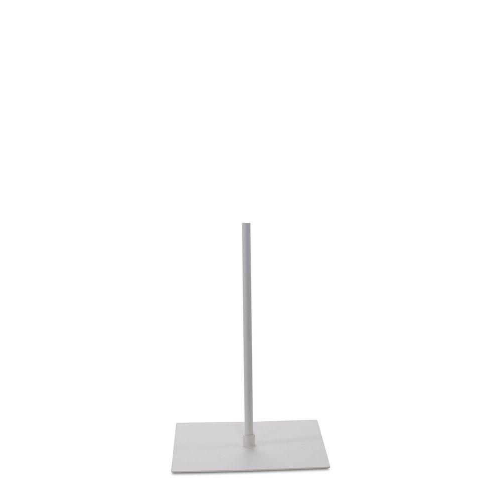 Socle 30x40 cm fixation au centre tige 55 cm finition epoxy blanc