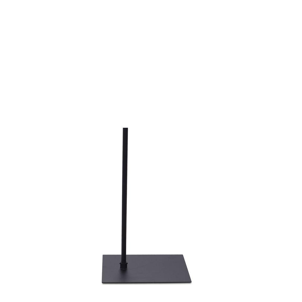 Socle 30x40 cm fixation hors centre tige 55 cm epoxy noir