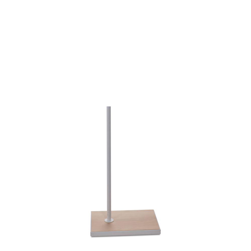 Socle 27x37cm fixation hors centre tige 55cm bois blanc