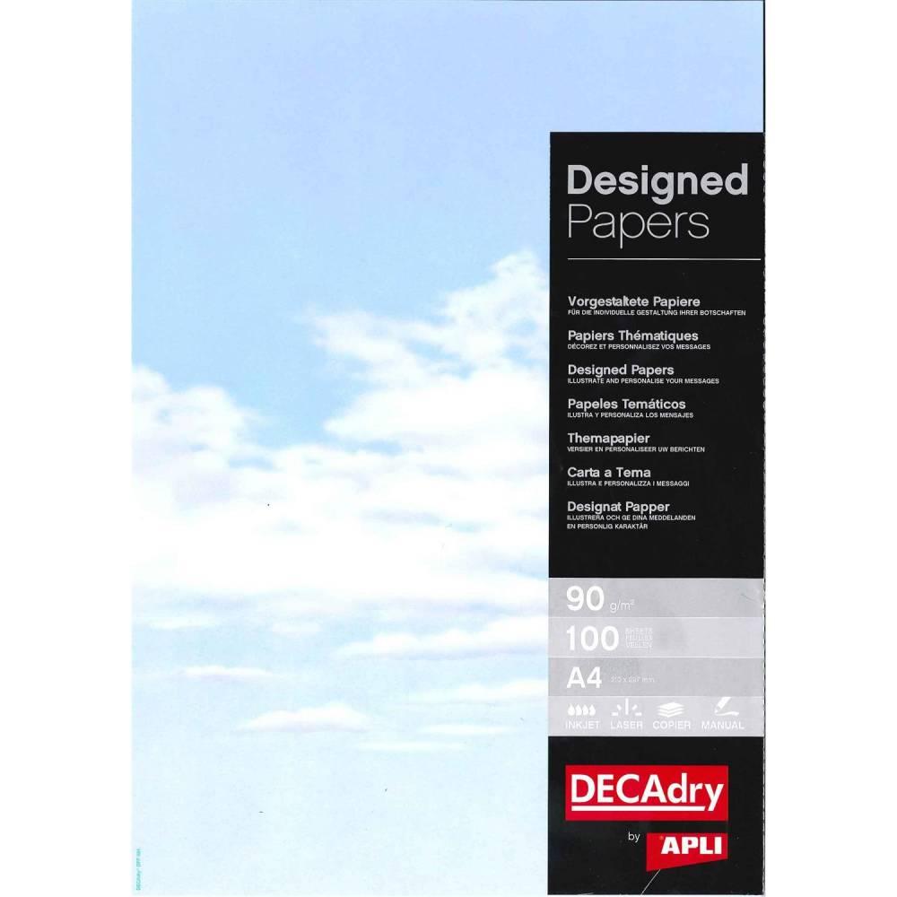 Papier de communication a4 80g 100 feuilles illustrée ciel