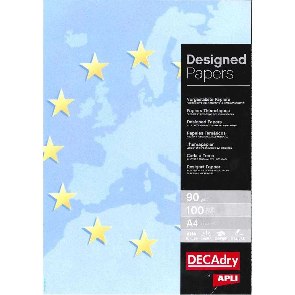 Papier de communication a4 80g 100 feuilles illustrée europe