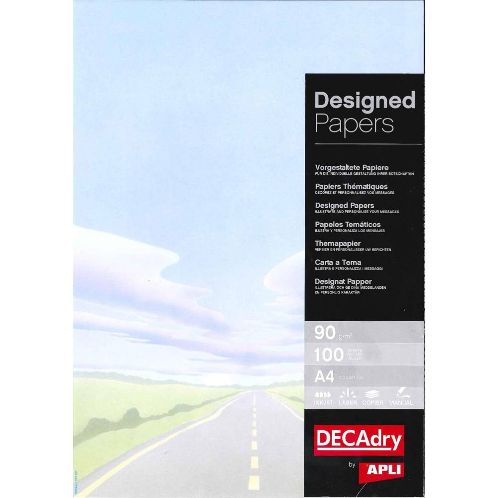 Papier de communication a4 80g 100 feuilles illustrée route