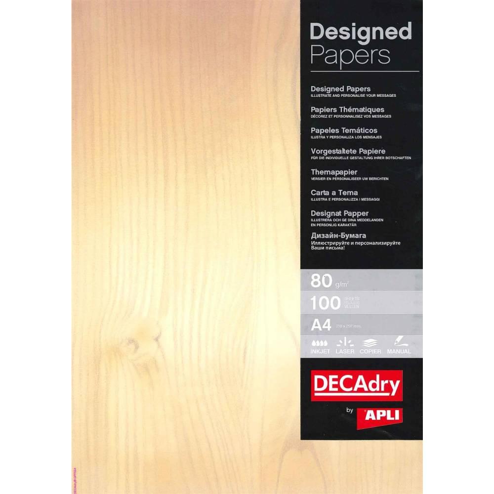 Papier de communication a4 80g 100 feuilles illustrée bois