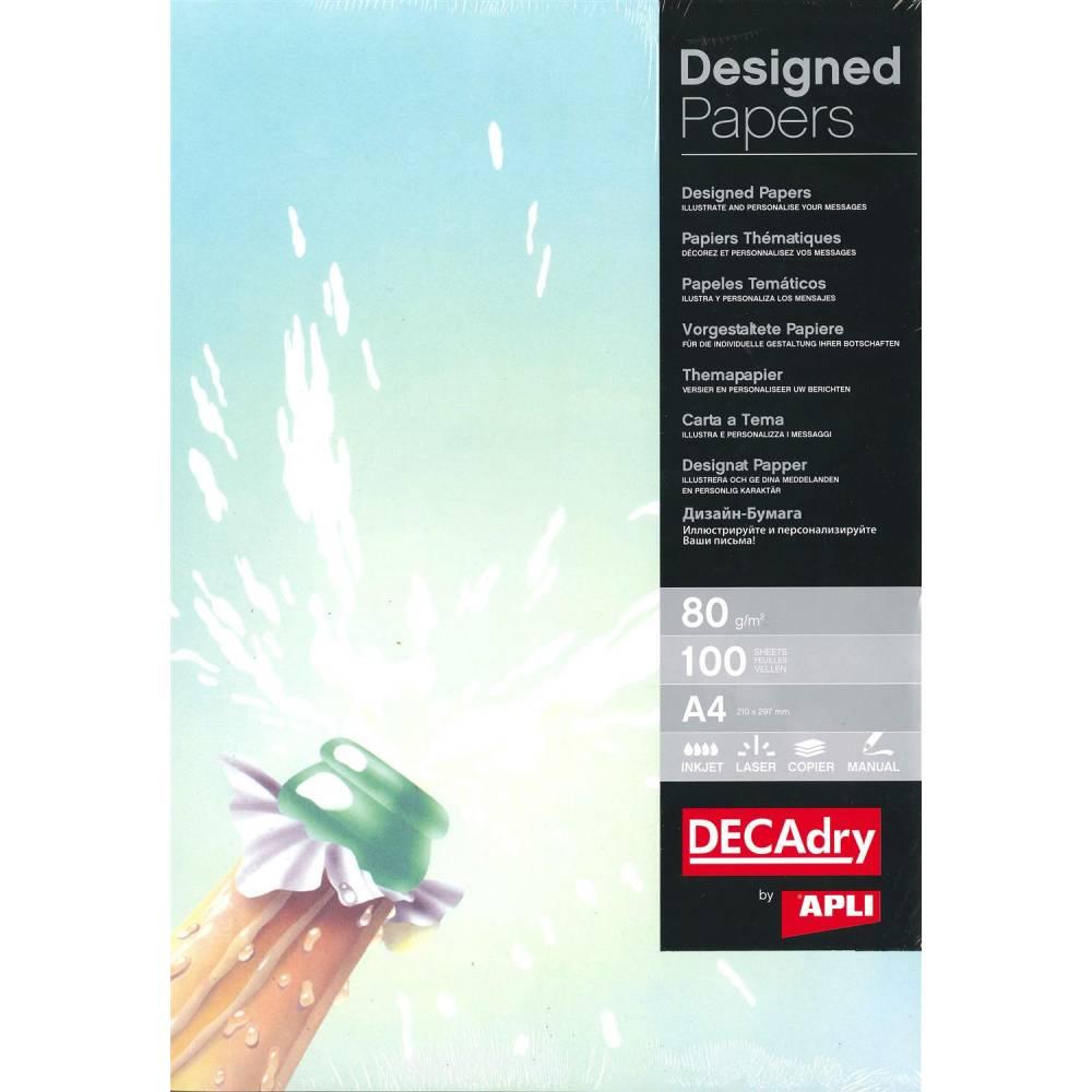 Papier de communication a4 80g 100 feuilles illustrée champagne