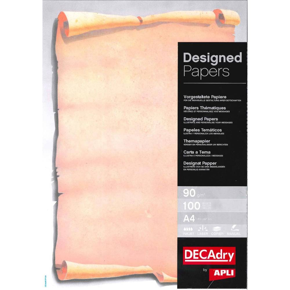 Papier de communication a4 80g 100 feuilles illustrée parchemin
