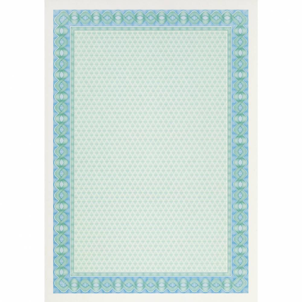 Papier de communication a4 115g 70 feuilles diplômes bleu/turquoise (photo)
