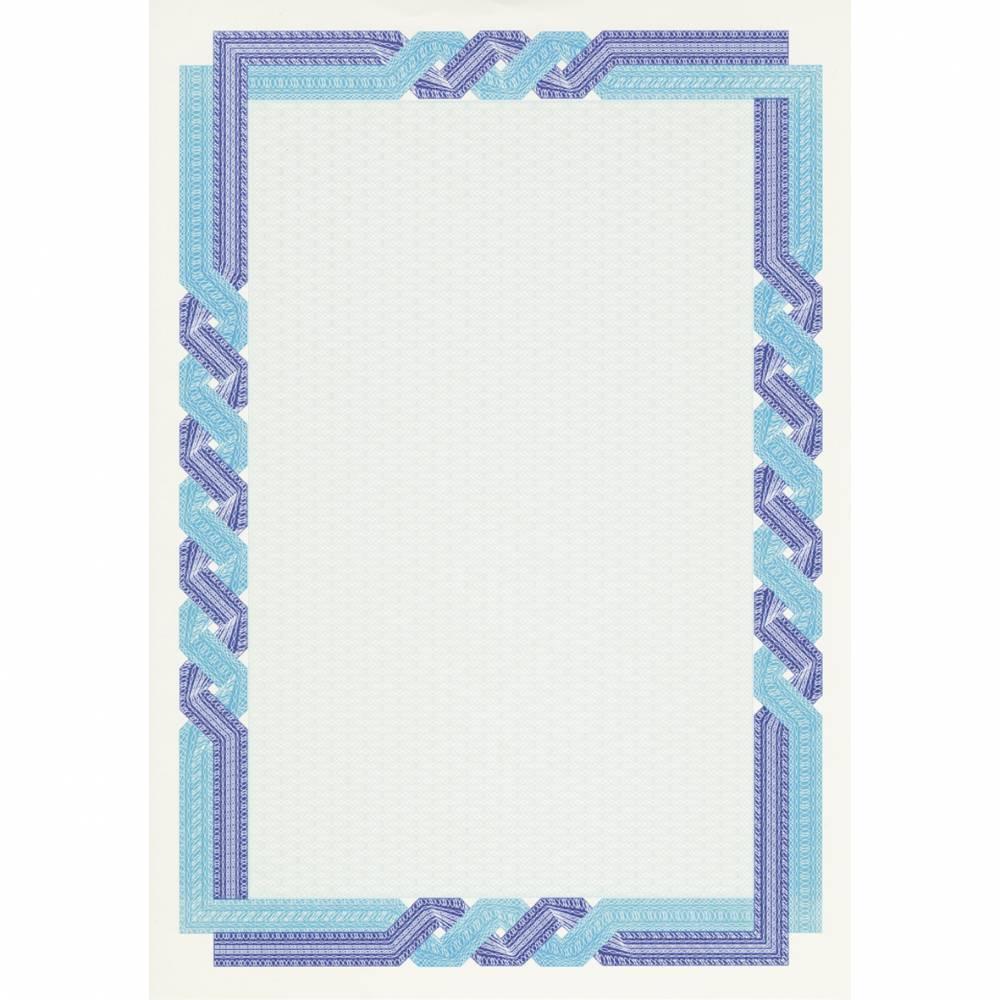 Papier de communication a4 115g 70 feuilles diplômes bleu outremer/cyan (photo)