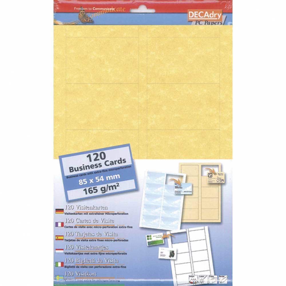 Pochette 120 cartes de visite pré-imprimées microline - 165g 85 x 54 mm