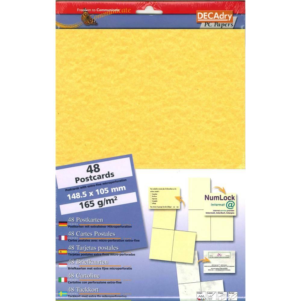 Pochette 48 cartes de visite pré-imprimées microline - 165g 148,5 x 105 mm
