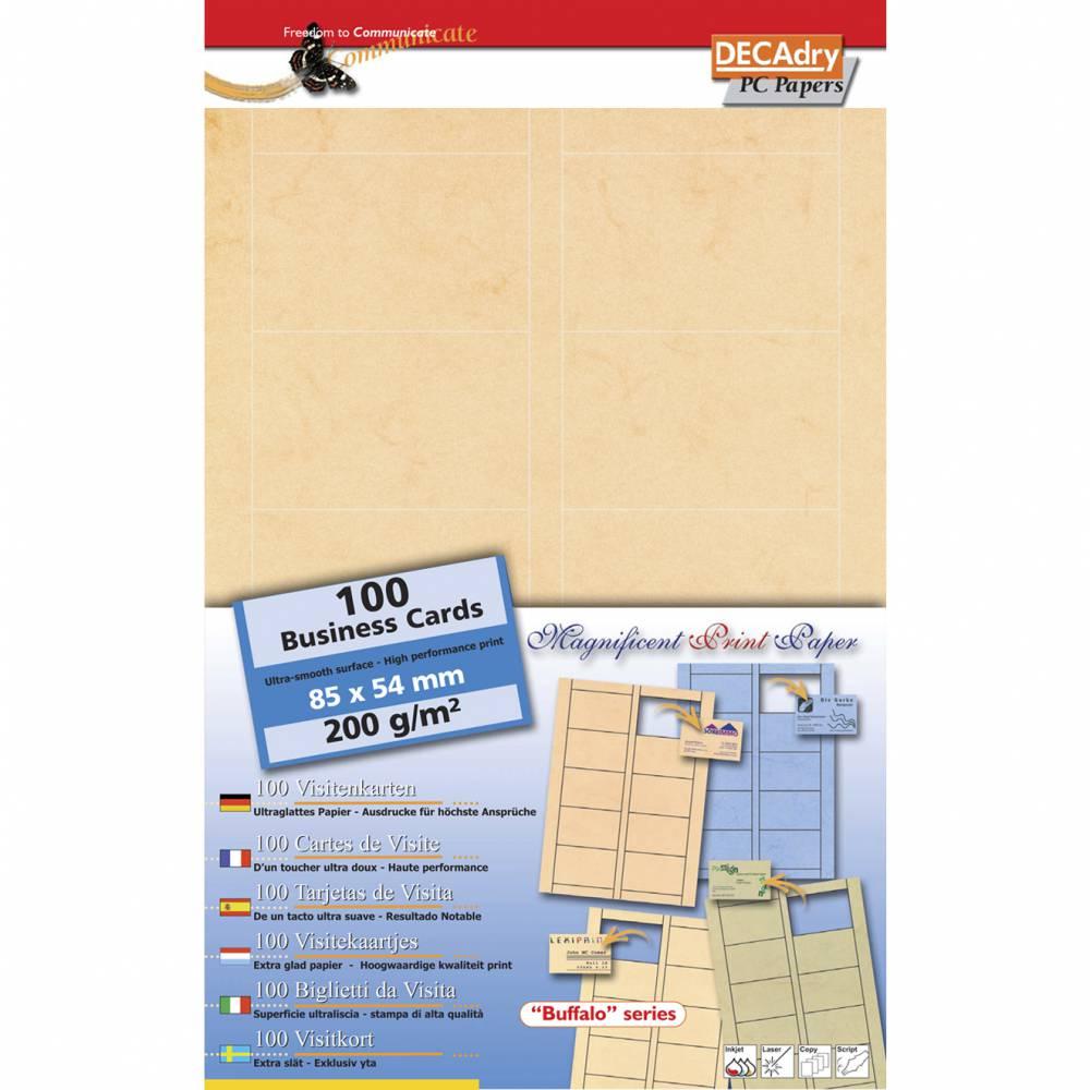 Pochette 100 cartes de visite pré-imprimées microline - 200g 85 x 54 mm