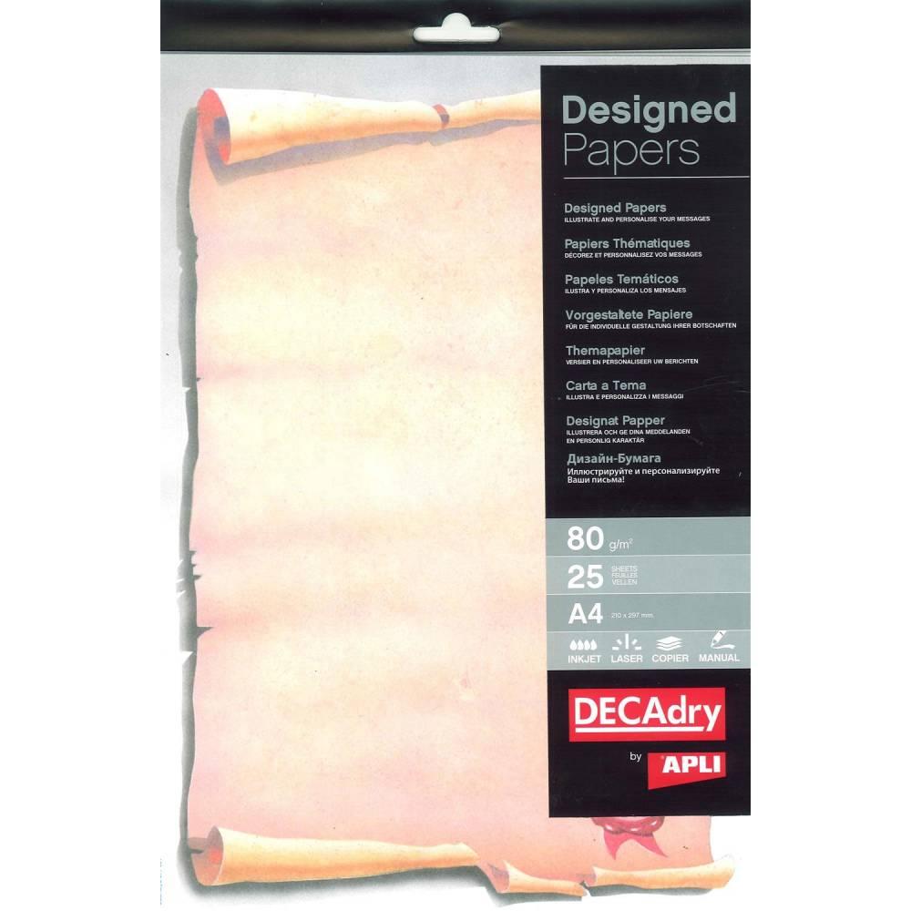 Papier de communication a4 80g 25 feuilles illustrée parchemin