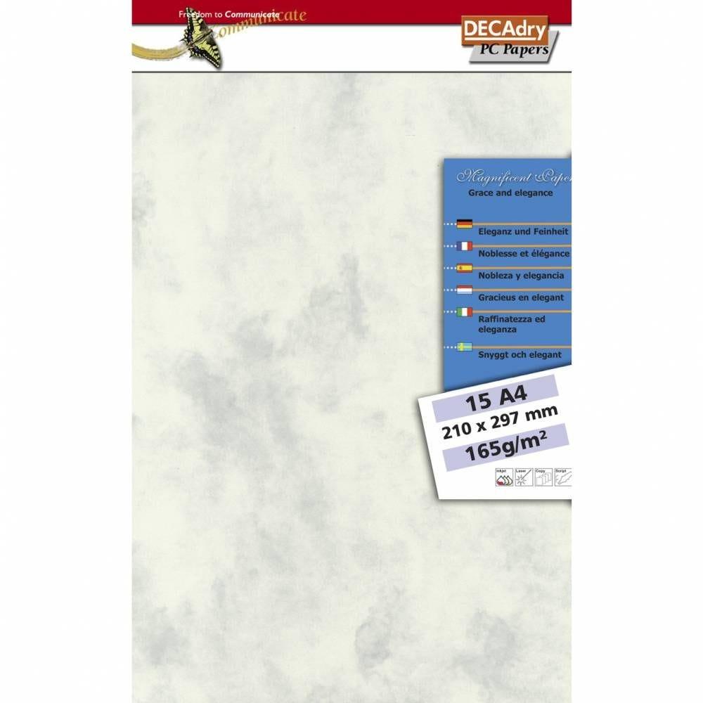 Pochette 15 feuilles papiers structurés a4