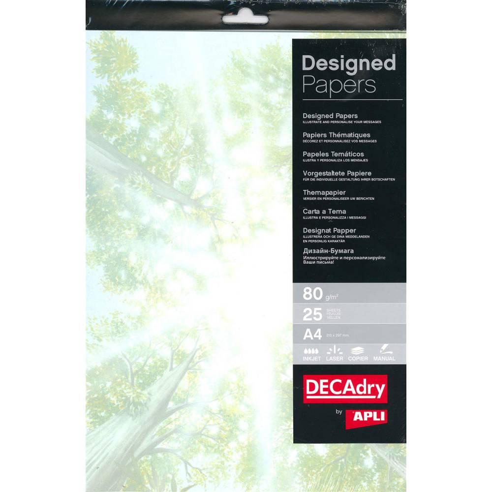 Pack 25 feuilles illustrées sous-boisa4 (photo)