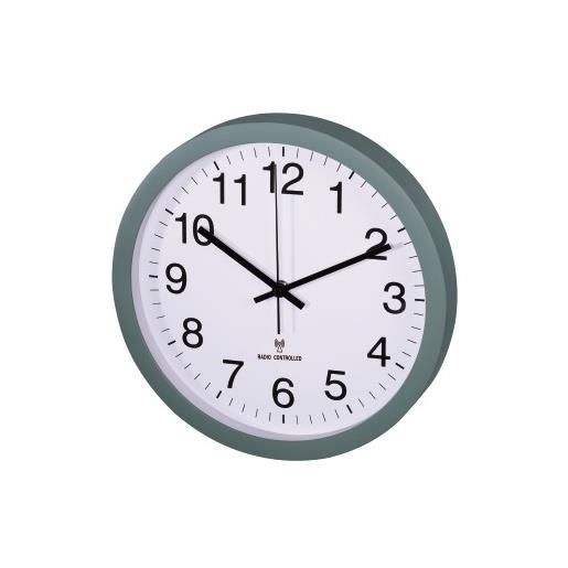 Horloge murale radio-pilotée dcf pg-300 silencieuse vert (photo)