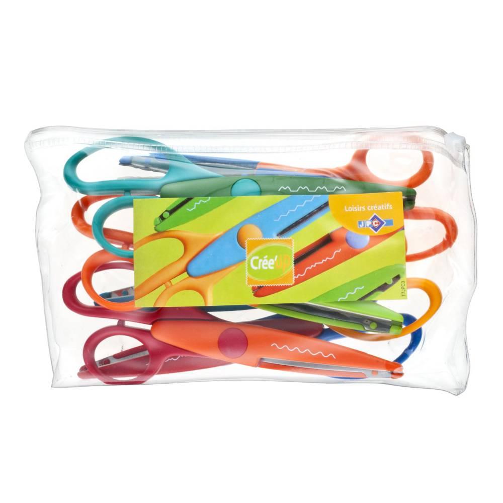 6 paires de ciseaux cranteurs 16 cm (photo)