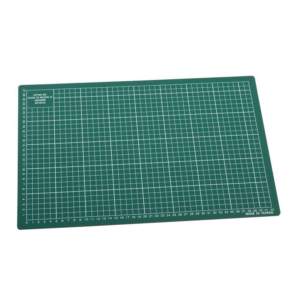 Plaque de découpe a3 450 x 300mm vert (photo)