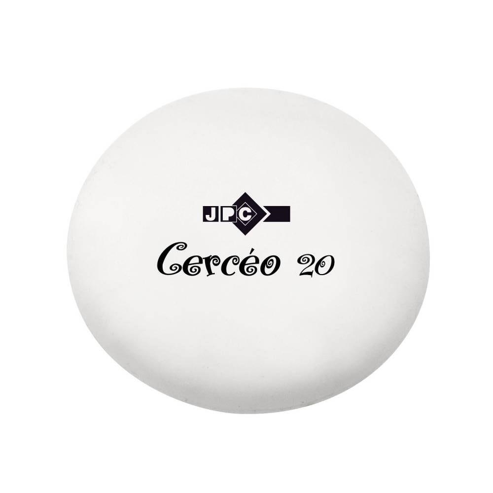 Gomme blanche 46x13 mm cercéo 20 caoutchouc sans pvc (photo)