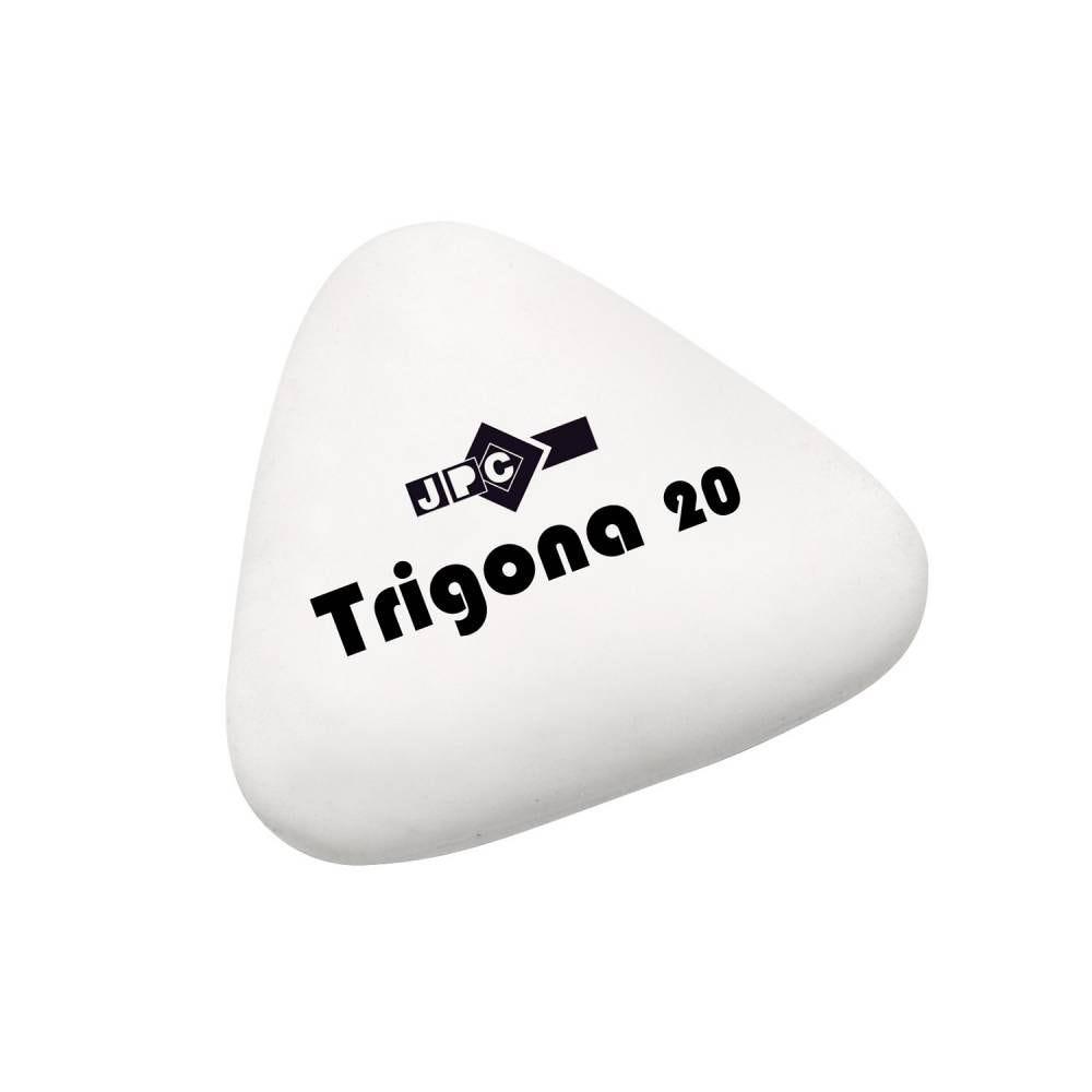 Gomme blanche 39x39x13 mm trigona 20 caoutchouc sans pvc sous blister (photo)