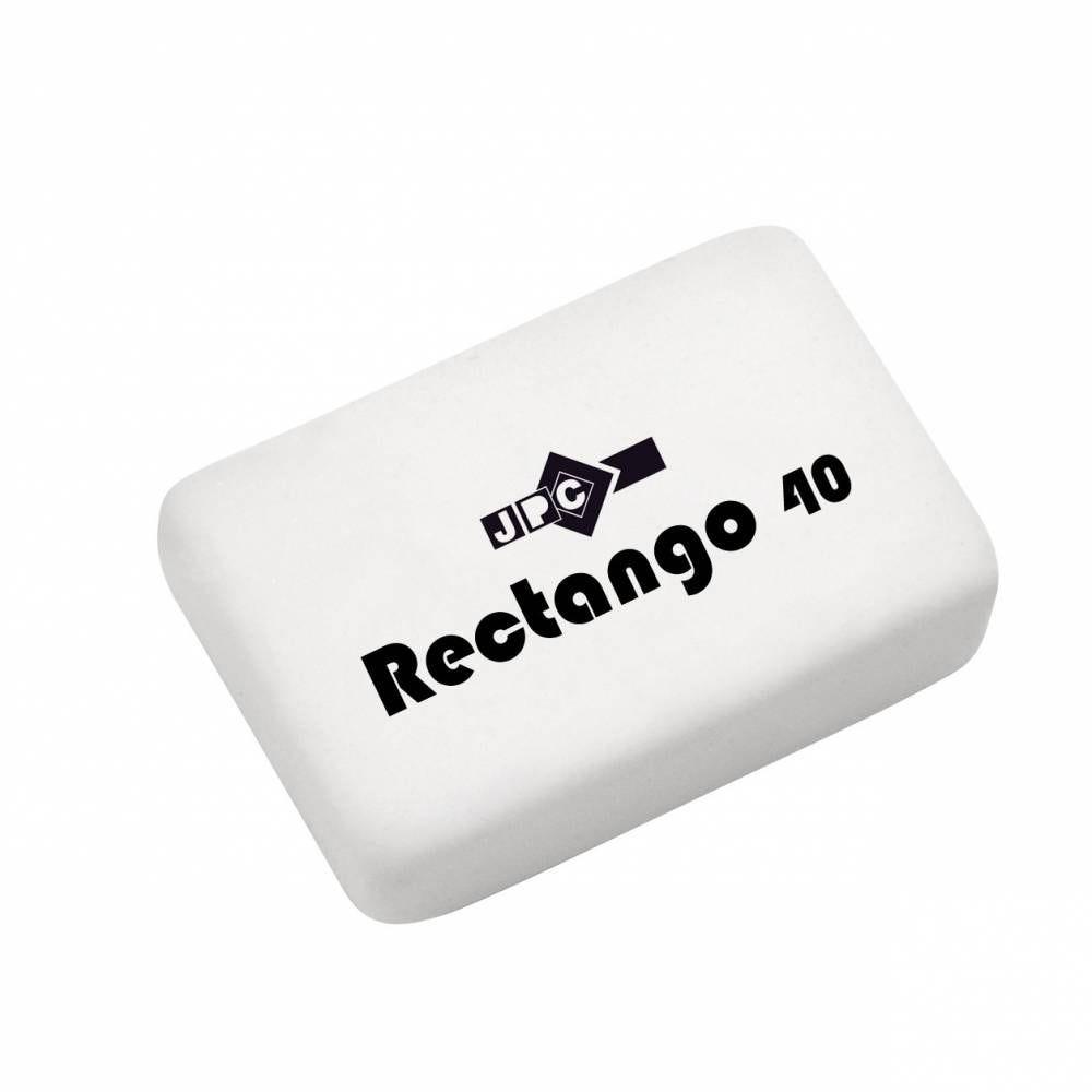 Gomme blanche dessin rectango 40 (33x23x8) caoutchouc sans pvc (photo)