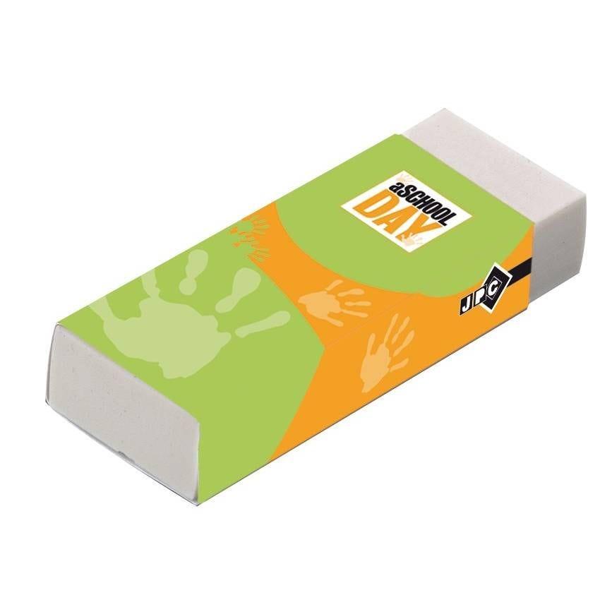 Gomme plast rectangle 61x22x12 mm grand modèle tous usages sans pvc (photo)