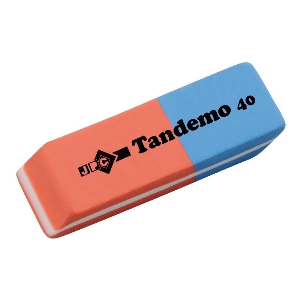 Gomme 56x18x8 mm encre/crayon tandemo 40 sans pvc sous blister (photo)