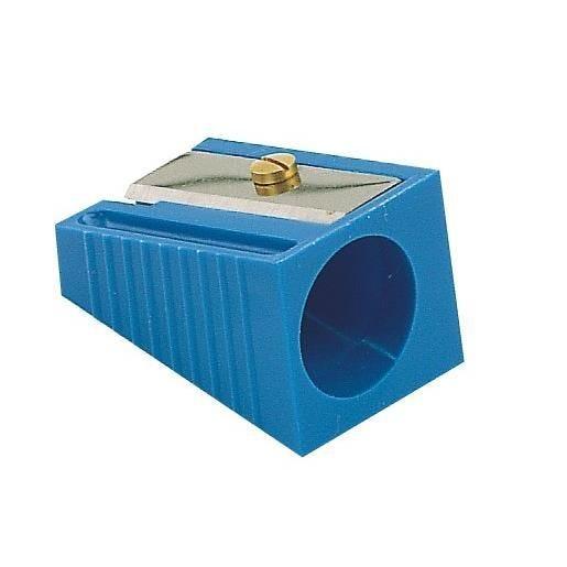 Taille-crayon plastique gros crayons diamètre 17 mm bleu