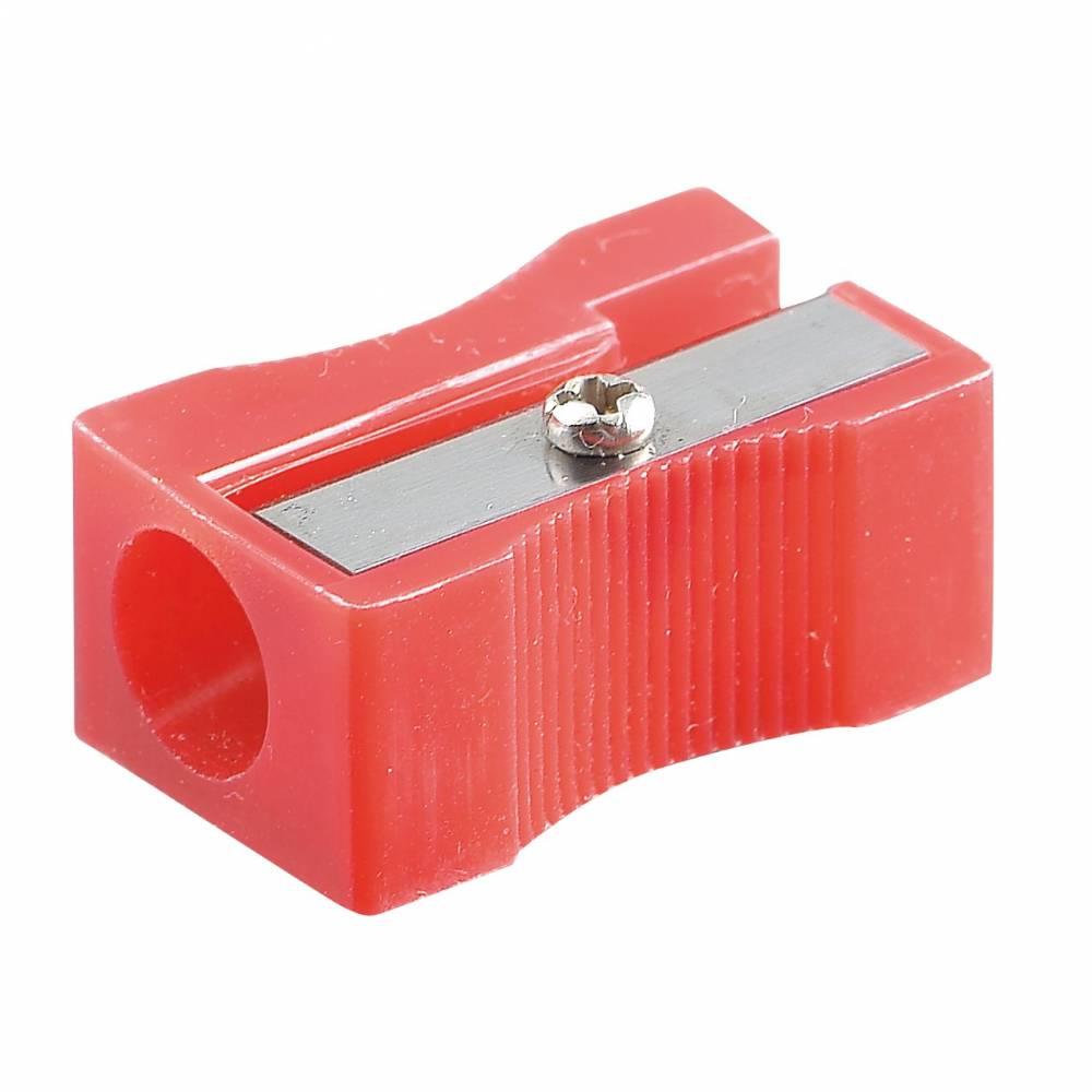 Taille-crayon plastique 1 usage sans réserve bleu ou rouge aléatoire