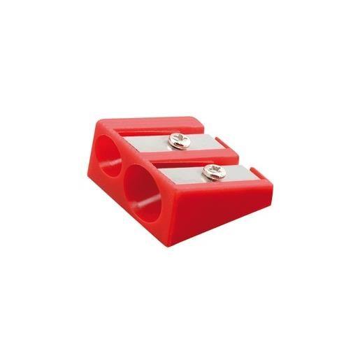 Taille-crayon plastique 2 usages sans réserve bleu ou rouge aléatoire