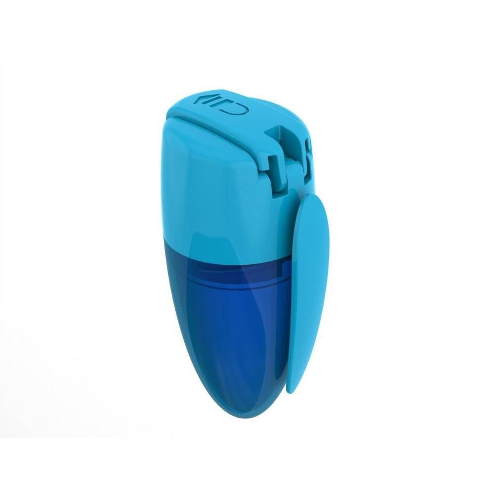 Taille-crayon sloty 1 usage + réserve plastique + clip coloris aléatoire