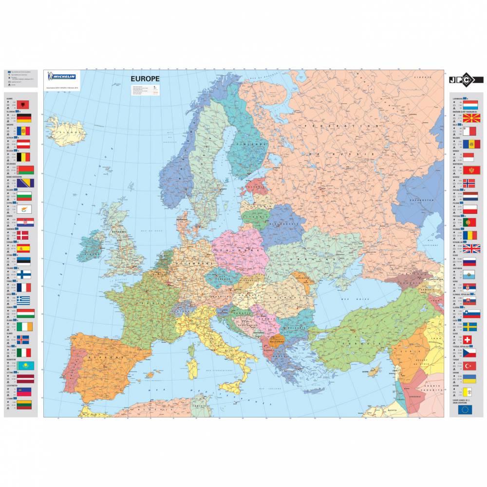 Sous-main souple avec carte de l'europe en français 58 x 44 cm
