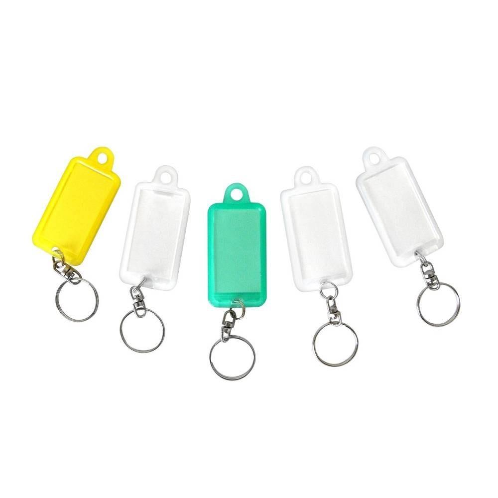 Porte-clés avec anneau pivot - par 5 (photo)