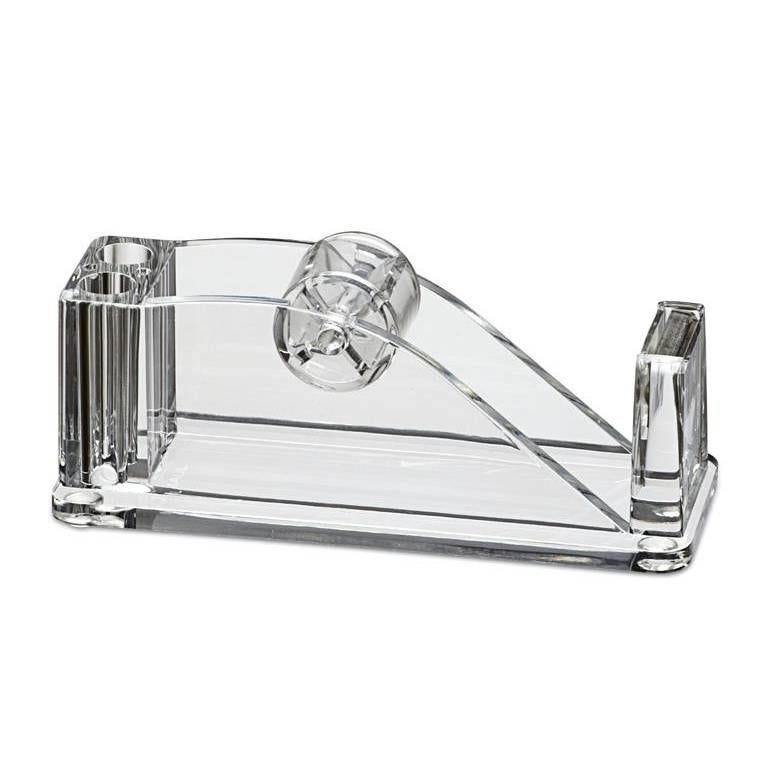 Dérouleur de bande adhésive acrylique (sans bande adh.) transparent (photo)