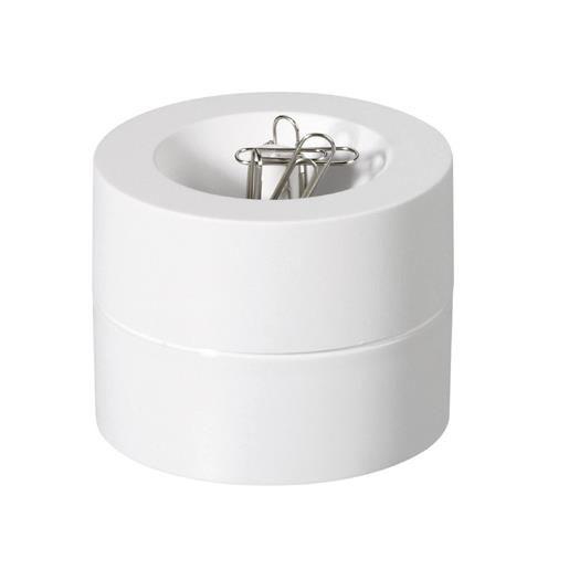 Distributeur de trombones de coloris blanc