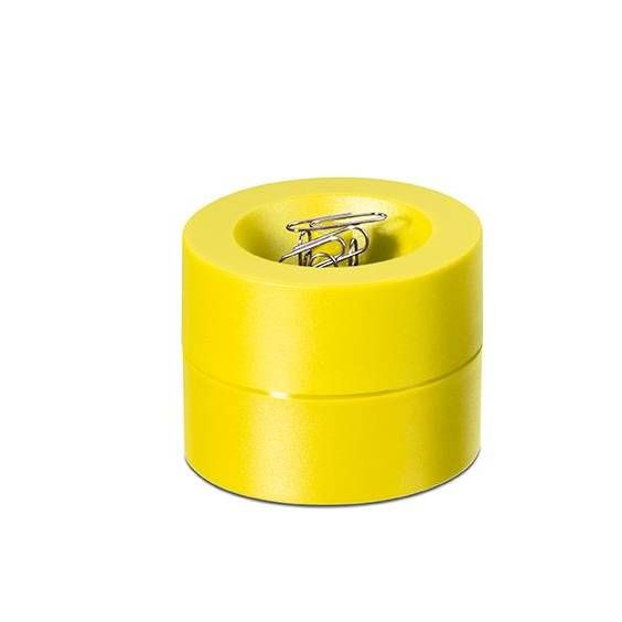 Distributeur de trombones de coloris jaune