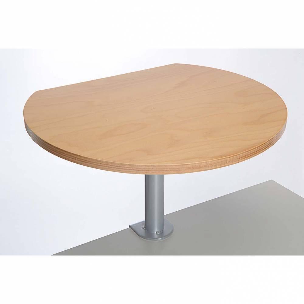 Table haute sur pince plaquée hêtre bois