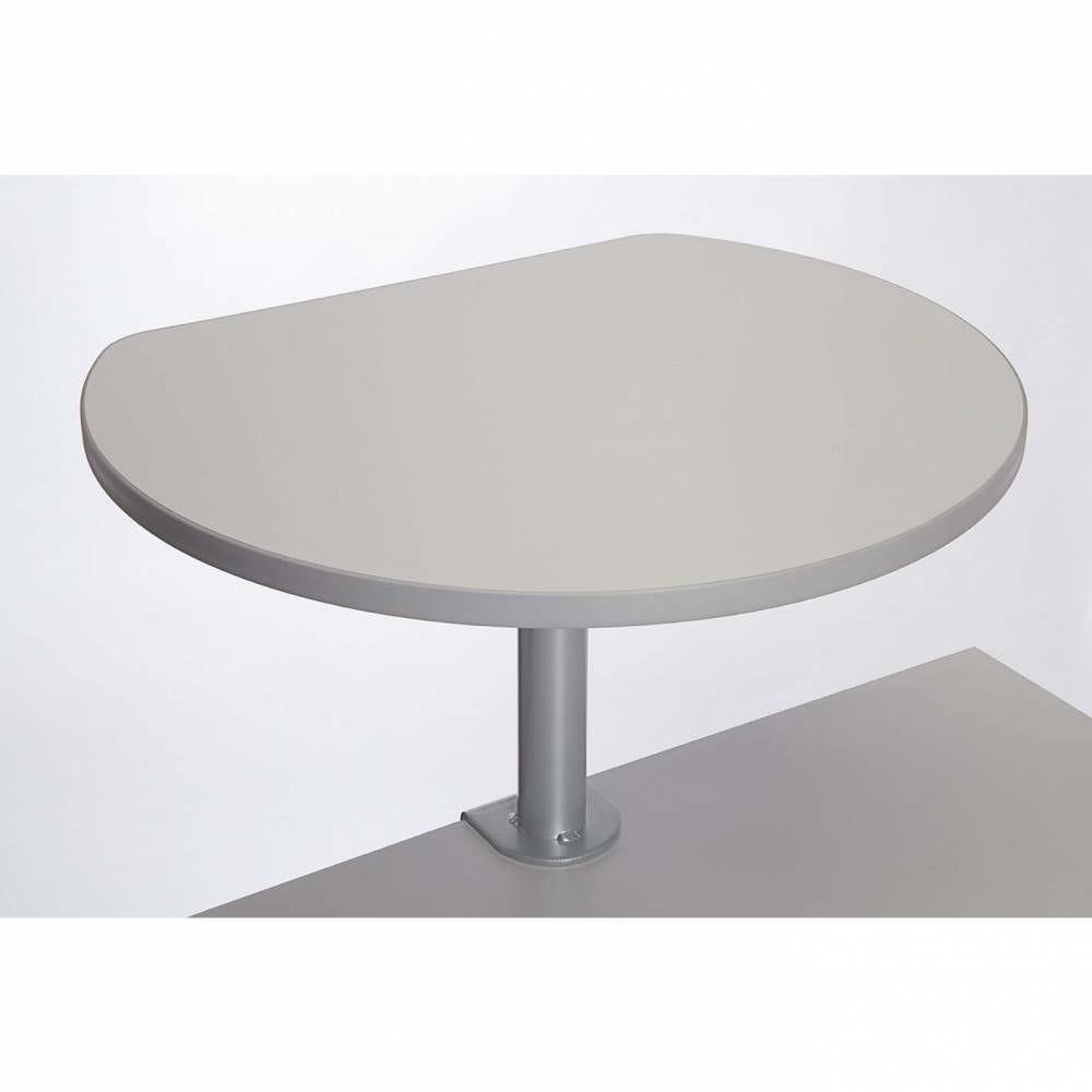 Table haute sur pince mélaminée gris
