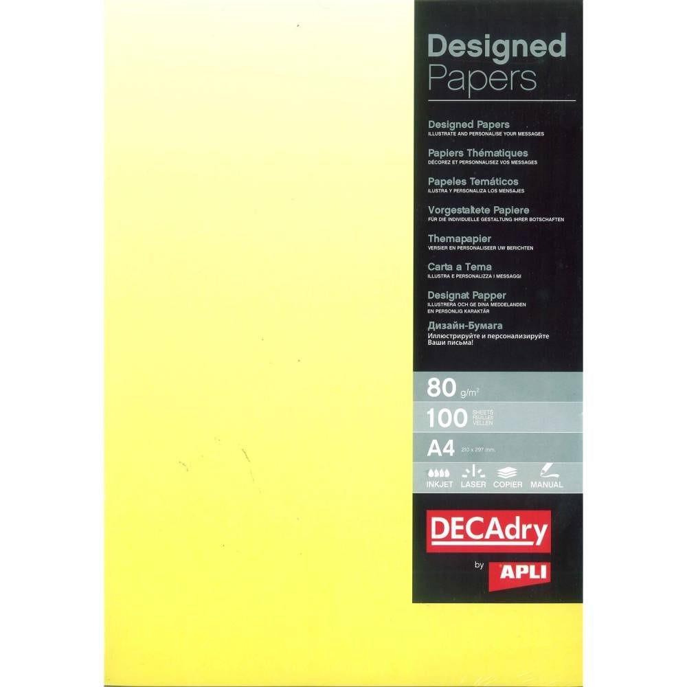 Papier de communication a4 80g 100 feuilles dégradé recto jaune