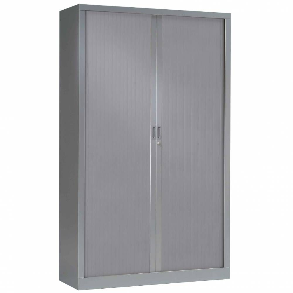 Armoire monobloc h160xl120xp43 cm 3 tab. Aluminium rideaux aluminium