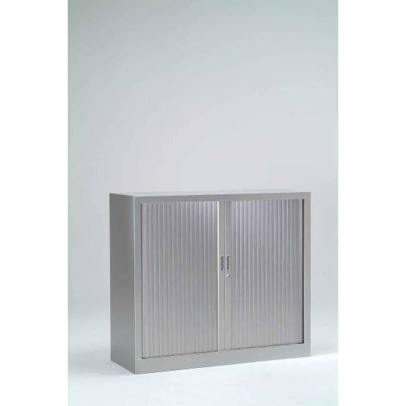 Armoire monobloc h100xl100xp43 cm 2 tab. Aluminium rideaux aluminium