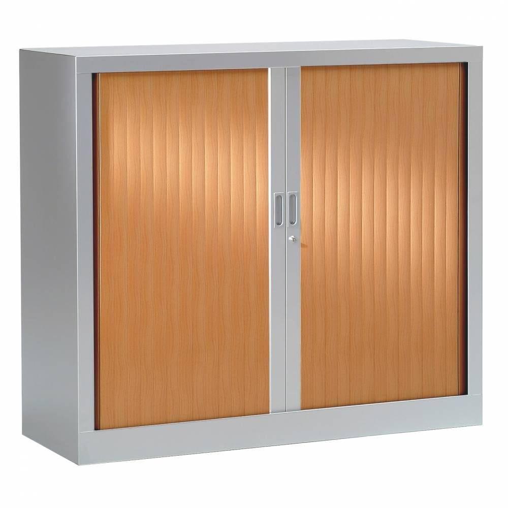 Armoire monobloc h100xl 80xp43 cm 2 tab. Aluminium rideaux pommier france