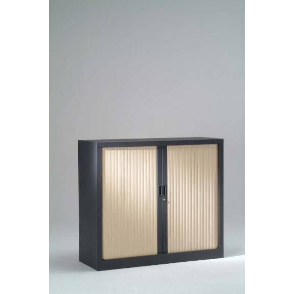 Réhausse armoire h44xl 80xp43 cm anthracite rideaux érable