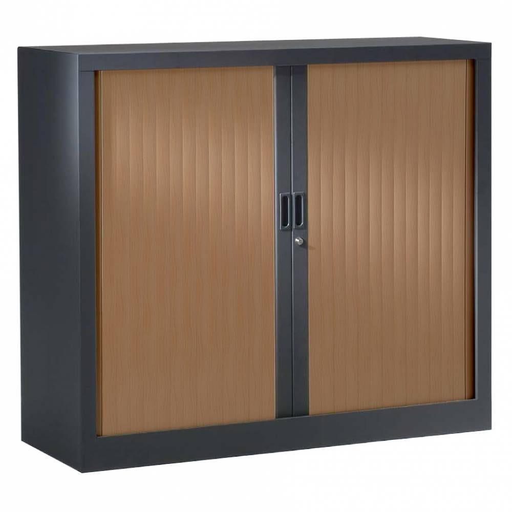 Réhausse armoire h44xl 80xp43 cm anthracite rideaux poirier foncé